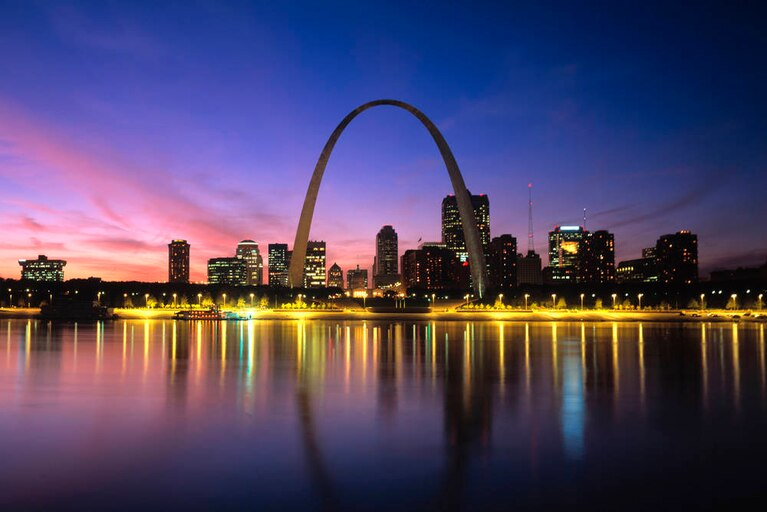 St. Louis Skyline & River Lights